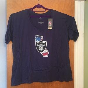 NWT. *Oakland*Raiders* Women's 3x T-shirt